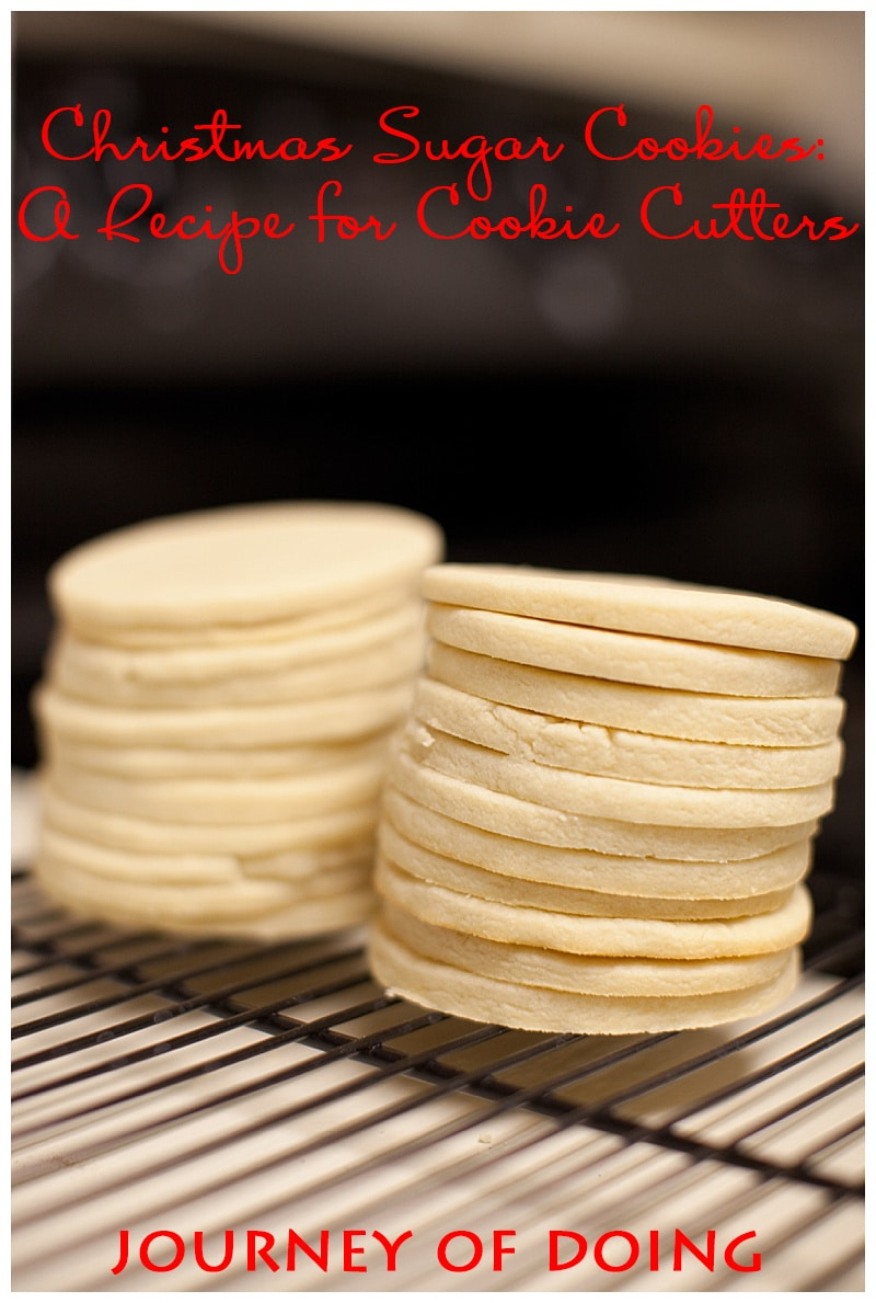 Sharing an (almost) foolproof recipe for Christmas sugar cookies that can be used as a year-round recipe for cookie cutters!