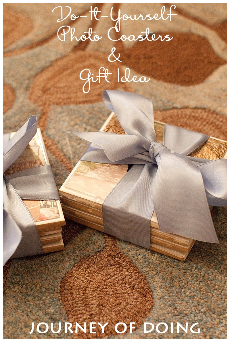 journey of doing - DIY Photo Coasters and Gift Idea