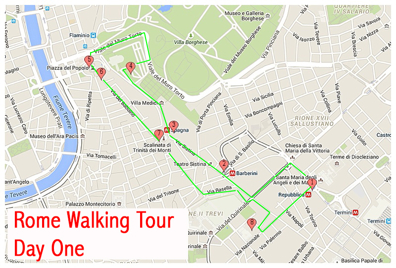 Walking Tour Of Rome In One Day