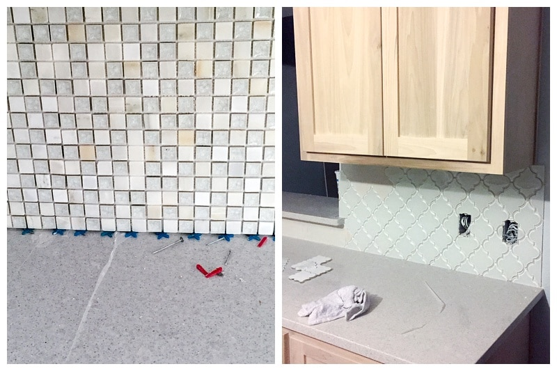 Wrong backsplash