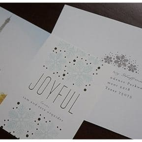 journey of doing - minted holiday cards with addressing