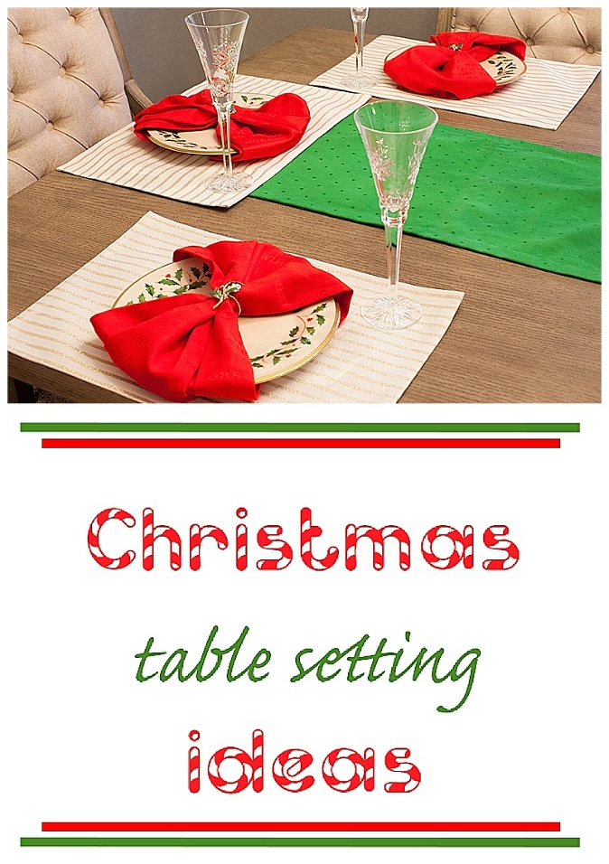 journey of doing - Christmas table setting ideas