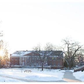 Albion College in winter