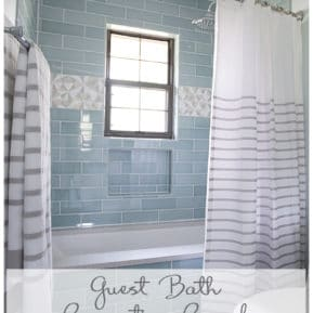 journey of doing - Guest Bathroom Renovation Reveal