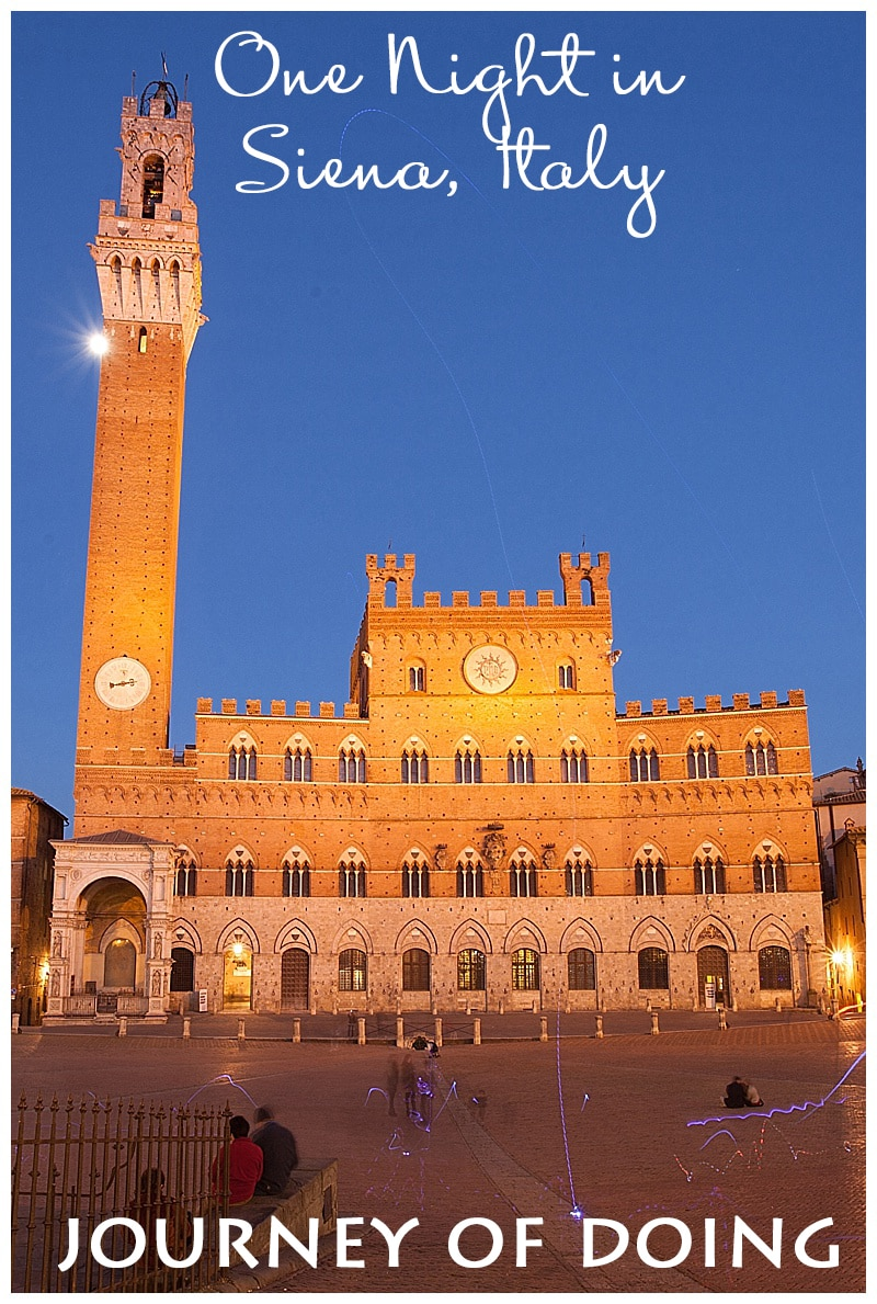 journey of doing - one night in siena, italy