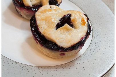 journey of doing - mini blueberry pie recipe