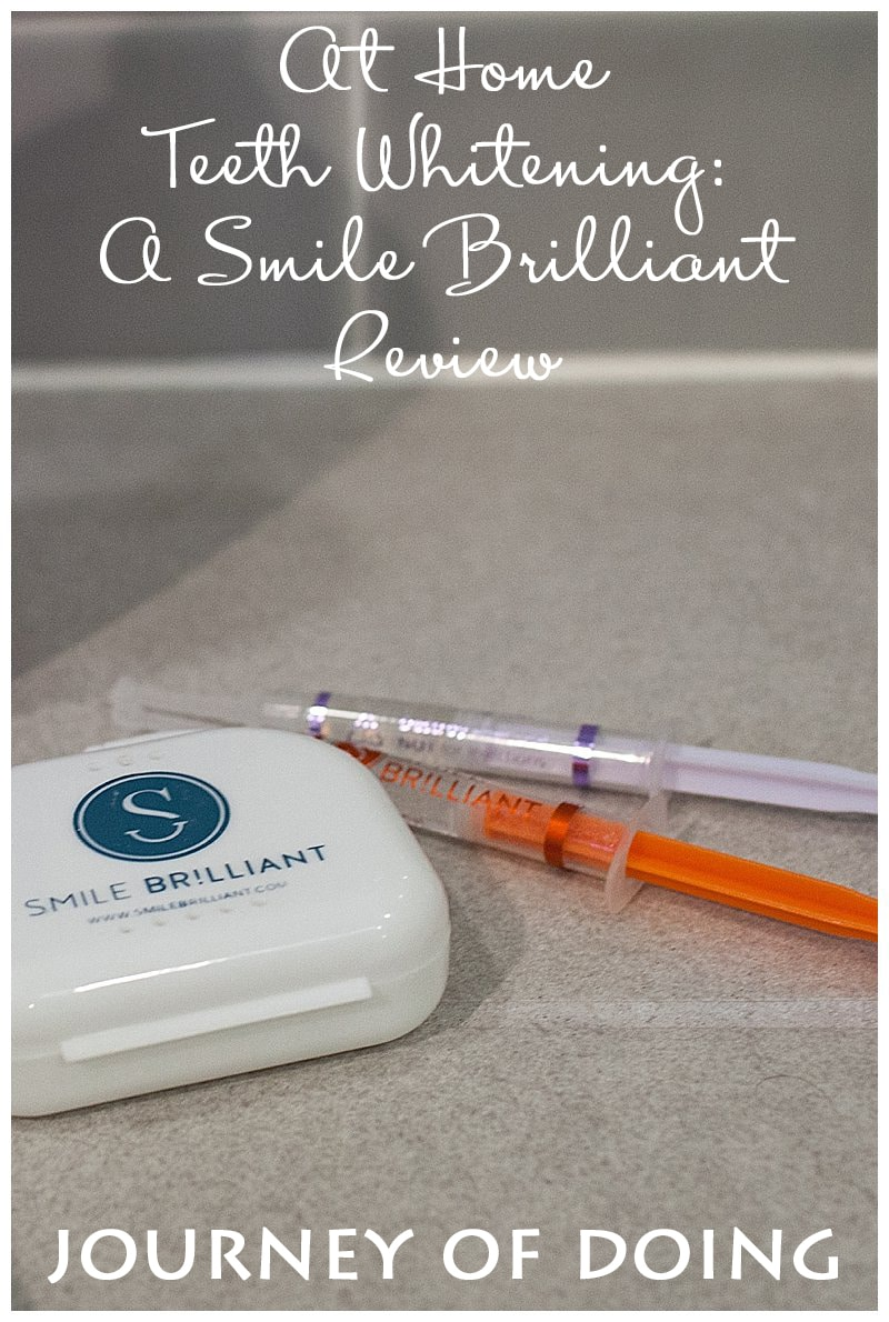 Sponsored by Smile Brilliant, I decided to give at home teeth whitening a try ! This was so easy and fit into my busy lifestyle perfectly!