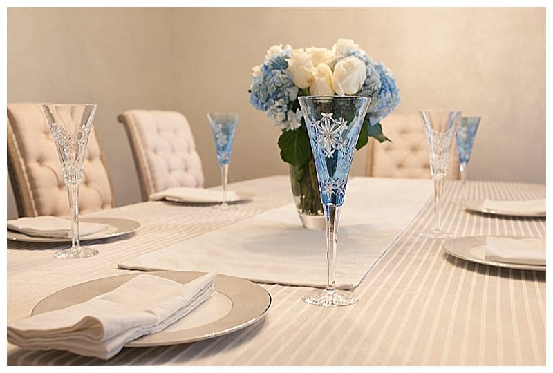 Waterford Snowflake Wishes, Kate Spade table linens, Monique Lhuillier Stardust