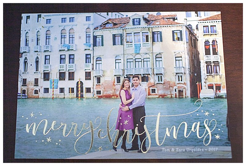 journey of doing - Minted gold foil Christmas Card-1